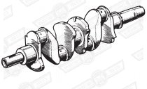 CRANKSHAFT-OIL FED BUSH 1 3/8'' DIA. TAIL 997cc '61-'62