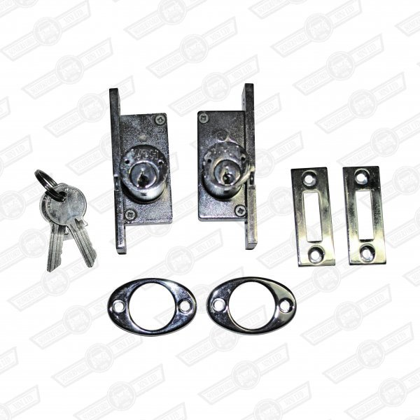 DEADLOCK SET EXTERNALLY HINGED CARS