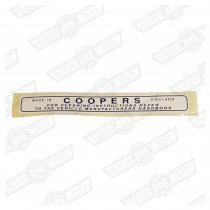 DECAL-AIR FILTER-'COOPERS'-997 COOPER-'61-'63