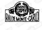 DECAL-BODYSIDE (AND BOOT LID)-'MONTE CARLO'