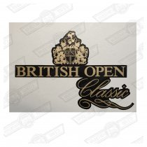 DECAL-BODYSIDE-'BRITISH OPEN CLASSIC'-CHARCOAL CARS GEN ROVE