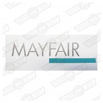 DECAL-BODYSIDE-'MAYFAIR'-SILVER & GREEN-'88 ON GENUINE ROVER