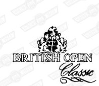 DECAL- BOOT LID 'BRITISH OPEN CLASSIC', GREEN CARS