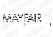 DECAL-BOOT LID-'MAYFAIR'-SILVER & NAVY-'88 ON