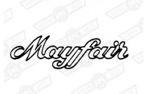 DECAL-BOOT LID - 'MAYFAIR' - WHITE -'82-'88