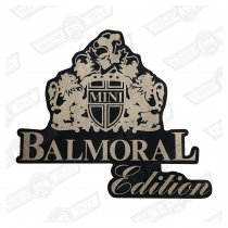 DECAL-BOOTLID-'BALMORAL'-CHARCOAL CARS GENUINE ROVER