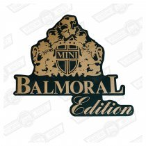 DECAL-BOOTLID-'BALMORAL'-GREEN CARS GENUINE ROVER