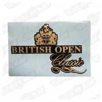 DECAL-BOOTLID-'BRITISH OPEN CLASSIC'-BLACK CARS