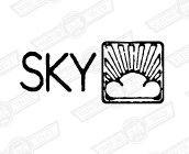 DECAL-BOOTLID-'SKY'