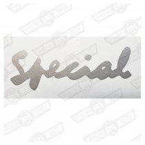 DECAL-BOOTLID-'SPECIAL'-SILVER-EUROPE