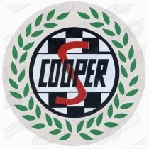 DECAL-'COOPER S' ROUND-GREEN LEAVES- ( JCconversion)
