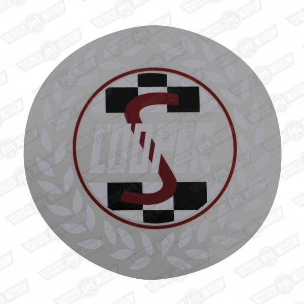 DECAL-'COOPER S' ROUND-WHITE LEAVES- ( JCconversion)