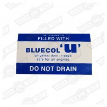 DECAL-RADIATOR-'BLUECOL U'