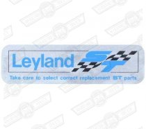 DECAL-ROCKER COVER-'LEYLAND ST'-'74-'77