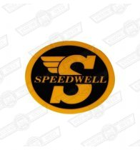 DECAL-'SPEEDWELL'-SMALL-INTERNAL FIX