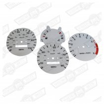 DIAL KIT- WHITE, 3 CLOCK NIPPON SEIKI INSTRUMENTS '88 ON