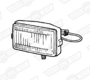 DRIVING LAMP-ROVER CABRIOLET-(RECTANGULAR)