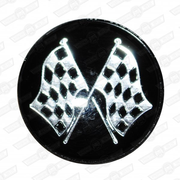 EMBLEM-CROSSED FLAGS, fits BG2602 and BG2702 gearknobs