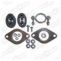 FITTING KIT-EXHAUST, 1275 CARB MODELS '92-'94 (MANUAL)