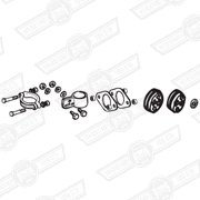 FITTING KIT-EXHAUST,CARB MODELS '92-'94 (AUTOMATIC)