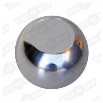 GEAR KNOB- ALLOY BALL SHAPE WITH RECESSED TOP (ACCEPTS EMB..