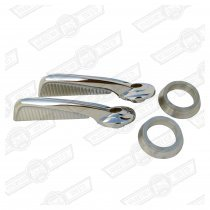 HANDLE-INTERIOR DOOR OPENING-CHROME-PAIR