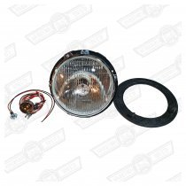 HEADLAMP ASSY.-PREFOCUS-2 ADJUSTERS+SIDELIGHT-RHD
