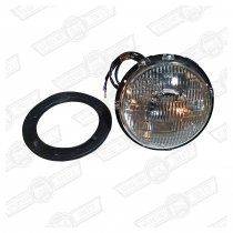 HEADLAMP ASSY.SEALED BEAM-NO S.LIGHT-METAL BOWL-RHD
