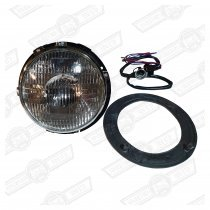 HEADLAMP ASSY.SEALED BEAM+S.LIGHT,METAL BOWL-RHD