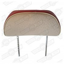 HEADREST-TWIN STALK-LSB/TARTANRED/CHOPSTICKS-2000 MINI SEVEN