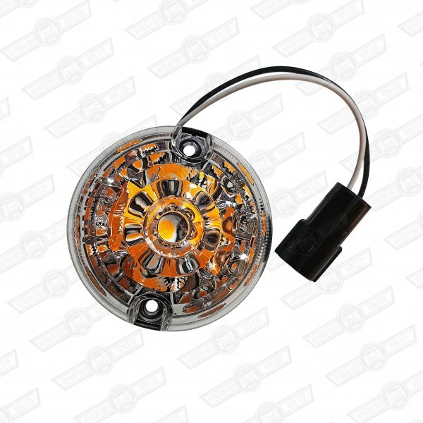 INDICATOR UNIT-FRONT, CLEAR LENS, LED BULB.use with S6081LED