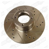 KAD BRAKE DISC 7.75'' SOLID CROSS DRILLED GROOVED PAIR