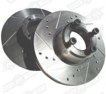 KAD BRAKE DISC 8.4'' VENTED PLAIN FACE- PAIR