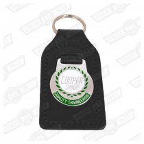 KEY FOB- BLACK LEATHER, 'COOPER GROUP'