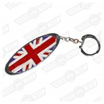 KEY FOB- ENAMELLED UNION JACK