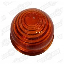 LENS-FRONT INDICATOR-AMBER-GLASS-'59-'88