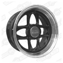 MAMBA ALLOY WHEEL- 6'' x 12'' BLACK/POLISHED RIM