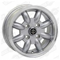 MINATOR ALLOY 5 x 12 SILVER WITH HIGHLIGHTED RIM