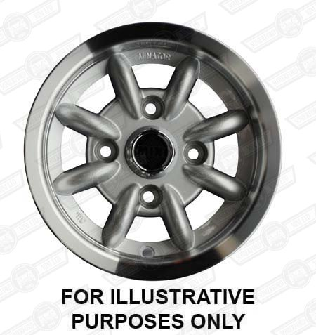 MINATOR ALLOY 6 x 10 SILVER WITH HIGHLIGHTED RIM
