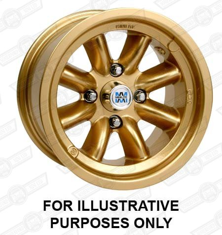 MINILITE WHEEL- 4.5''x10'' MINI GOLD
