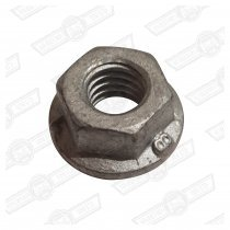 NUT-FLANGED-M6 METRIC FINE ZINC