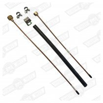 OIL PRESSURE PIPE KIT-3 PIECE, ENGINE TO GAUGE