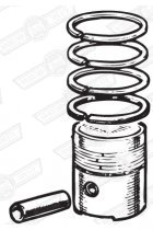 PISTON SET-4 RINGS-997cc 8.3:1 CR STD. SIZE