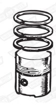 PISTON SET-DISHED-3 RINGS 8.3:1 CR +020'' 998cc '88 ON
