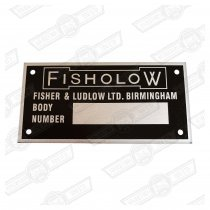 PLATE-BODY NUMBER-'FISHOLOW'-'61-'69 RILEY & WOLSELEY