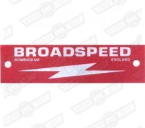 PLATE-'BROADSPEED'