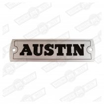 PLATE- ROCKER COVER-'AUSTIN'-RIVET ON-'59-'65