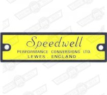 PLATE-'SPEEDWELL'-YELLOW AND BLACK