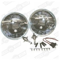 QUADOPTIC HALOGEN HEADLAMP SET+ SIDELIGHTS-RHD #