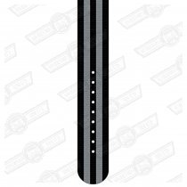 REC WATCH STRAP-22mm, BLK/GREY 5 STRIPE NYLON- SATIN BUCKLE